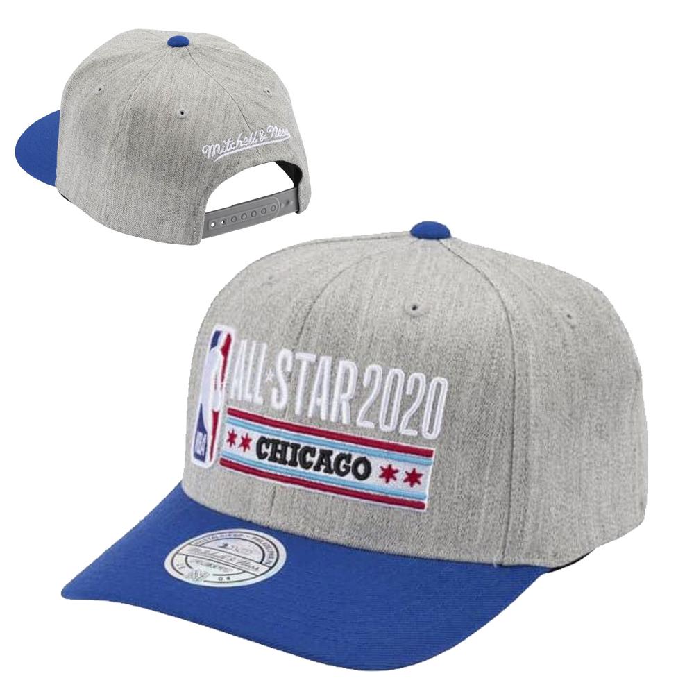 Mitchell /& Ness Snapback Cap 2020 All Star Chicago Heather Grey