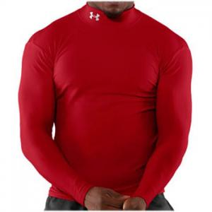 Under Armour ColdGear® Longsleeve Compression Mock Red