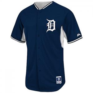Majestic MLB Detroit Tigers Authentic 2014 Cool Base BP Jersey