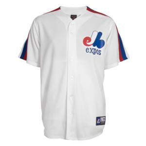Majestic MLB Montreal Expos Cooperstown Replica Jersey