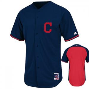 Majestic MLB Cleveland Indians Authentic BP