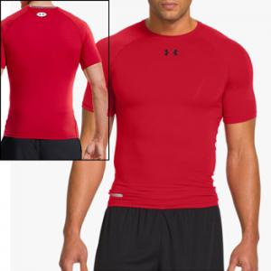 Under Armour HeatGear® Sonic Compression Short Sleeve Rouge 1236224