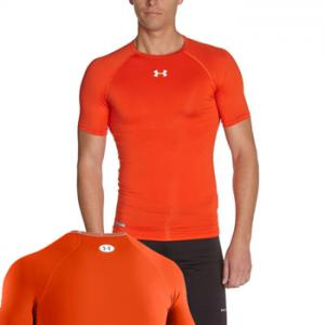 Under Armour HeatGear® Sonic Compression manches courtes Orange 1236224
