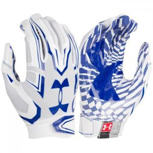 Under Armour F5 Mens Football Glove White/Royal 1271183-102