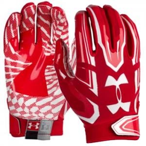 Under Armour F5 Mens Football Glove Red/White 1271183-600
