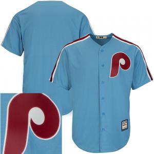 Majestic MLB Philadelphia Phillies Cooperstown Cool Base® Columbia Blue Jersey