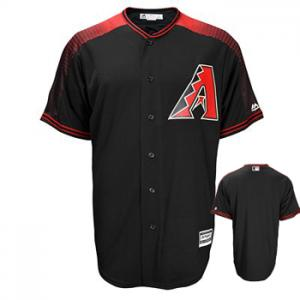 Majestic MLB Arizona Diamondbacks Majestic Black/Brick Official Cool Base Jersey