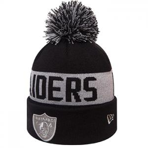 New Era NFL Team Tonal Knit Oakland Raiders Knit Black