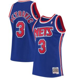 Mitchell & Ness NBA Brooklyn Nets Drazen Petrovic 1992-93 Hardwood Classics Swingman Jersey