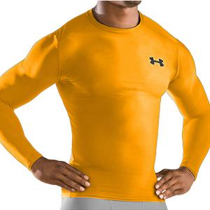 Under Armour HEATGEAR® Compression T-shirt Gold  1201163