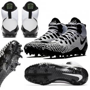 Nike Force Savage PRO Chaussure football Américain Blanc/Noir