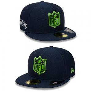 New Era NFL Seattle Seahawks League Logo Navy 59Fifty