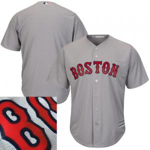 Majestic MLB Boston Red Sox Majestic Gray Road Cool Base Jersey