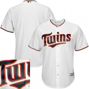 Majestic MLB Minnesota Twins Majestic White Home Cool Base Jersey