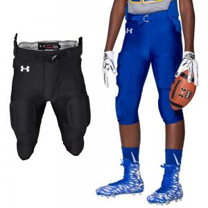 Under Armour UFPPM1 Adult Integrated Football Pant with pads and belt