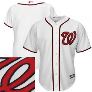Majestic MLB Washington Nationals Majestic White Home Cool Base Team Jersey