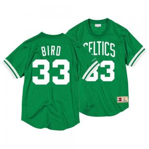 Mitchell & Ness NBA Boston Celtics Name & Number Mesh Crew Neck Larry Bird