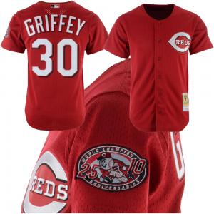 Mitchell & Ness MLB Cincinnati Reds Ken Griffey Jr. 2000 Authentic Mesh BP Jersey