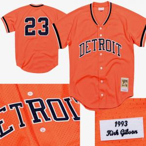 Mitchell & Ness MLB Detroit Tigers Kirk Gibson 1993 Authentic Mesh BP Jersey - Chemise de Baseball orange de Kirk Gibson des detroit Tigers