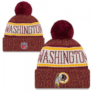 New Era NFL Washington Redskins Sideline Bobble Cuff knit 2018