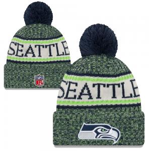 New Era NFL Seattle Seahawks Sideline Bobble Cuff Knit 2018