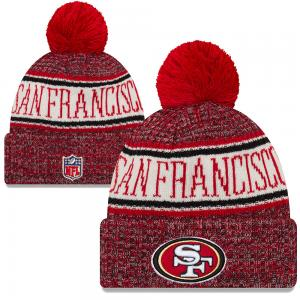 New Era NFL San Francisco 49ers Sideline Bobble Cuff Knit 2018