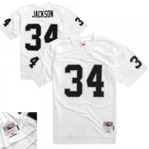 Mitchell & Ness NFL Oakland Raiders Bo Jackson 1988 Legacy Authentic Collecttion Jersey White