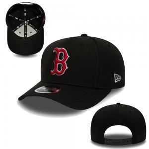 New Era MLB Boston red Sox Casquette noire flexible ajustable 9Fifty