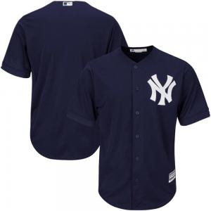 Majestic MLB New York Yankees Official Cool Base Alternate Jersey Navy