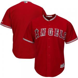 Majestic MLB Los Angeles Angels Scarlet Alternate Cool Base Team Jersey