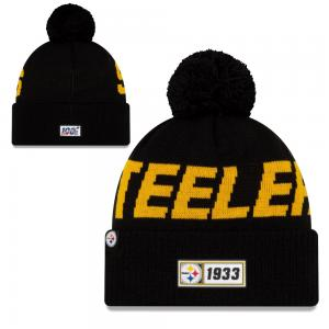 New Era NFL Pittsburgh Steelers Onfield 2019 Sport Knit Road