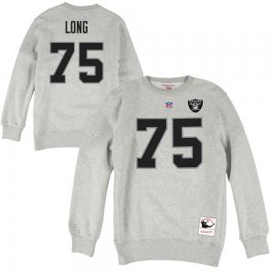 Mitchell & Ness NFL Oakland Raiders Howie Long  Name & Number Fleece Crew