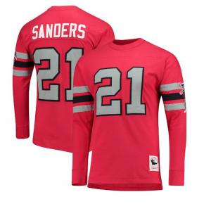 Mitchell & Ness NFL Atlanta Falcons Deion Sanders Name and Number Long Sleeve Sweat