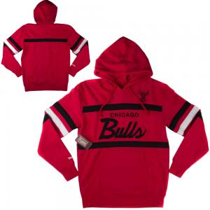 Mitchell & Ness Sweat à Capuche NBA Chicago Bulls Modèle Head Coach