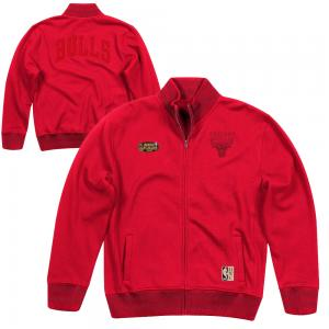 Mitchell & Ness Blouson NBA Chicago Bulls type polaire universitaire rouge