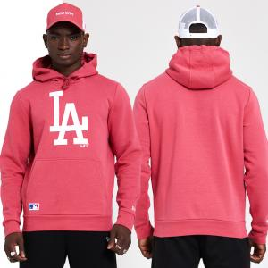 New Era Sweat à Capuche MLB Los Angeles Dodgers série de Saison Rose