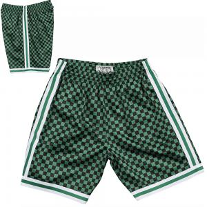 Mitchell & Ness Short de Basketball NBA Boston Celtics Swingman à Damier
