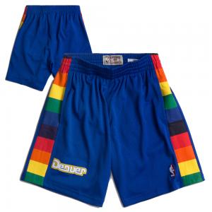 Mitchell & Ness Short de Basketball NBA Denver Nuggets Swingman