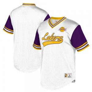 Mitchell & Ness Maillot de Basketball NBA Los Angeles Lakers Top Prospect à Maille aérée Col V