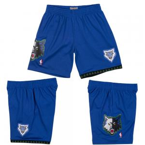 Mitchell & Ness Short de basketball NBA Minnesota Timberwolves Modèle Swingman 2003