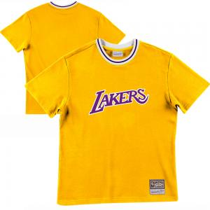 Mitchell & Ness Sweat d'échauffement NBA Los Angeles Lakers modèle Tissu Eponge Francaise