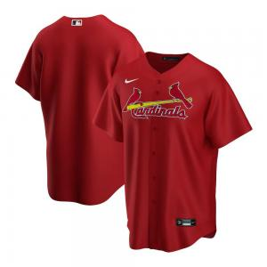 Nike Chemise de baseball MLB St. Louis Cardinals modèle Alternate 2020 Replica Rouge