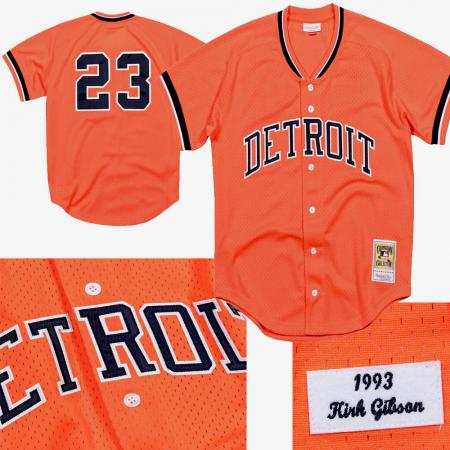 Mitchell & Ness/MLB Detroit Tigers Kirk Gibson 1993 Authentic Mesh BP Jersey