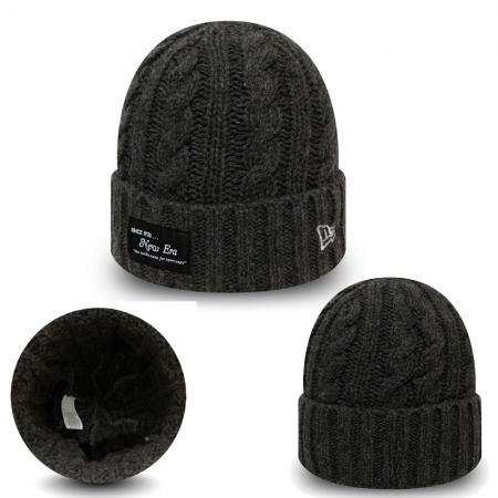 New Era/New Era Branded Ribbed Cuf XYL Charcoal