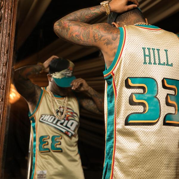 size 40 5eee4 51317 Mitchell & Ness - Swingman jersey - Detroit Pistons - Grant Hill