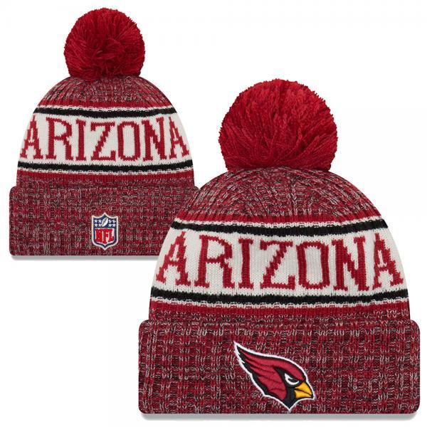 9b12db1ca New Era - NFL Arizona cardinals Sideline Bobble Cuff Knit 2018