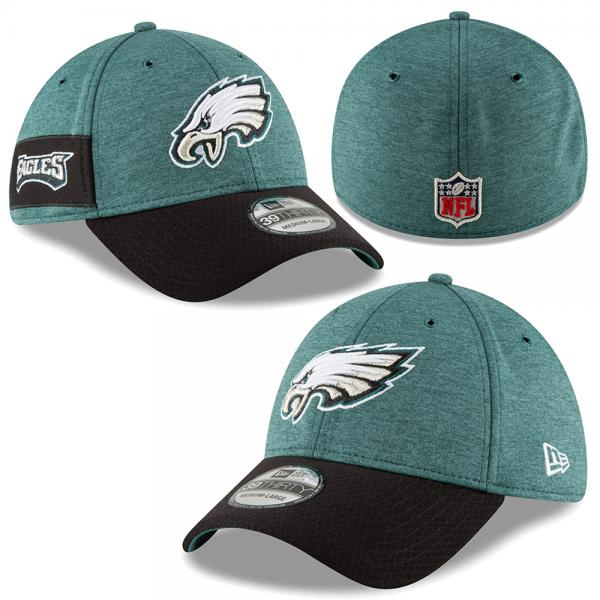 5a86b3e25f42aa Crafted in full team colours, this Philadelphia Eagles NFL 2018 Sideline 39THIRTY  cap is the perfect accessory for wear during their home ...